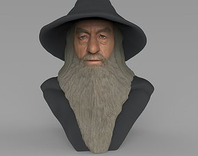 Gandalf Lord of the Rings bust ready for full color 3D 1