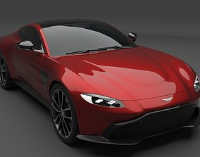 3D model Aston Martin Vantage with Burnout Scene