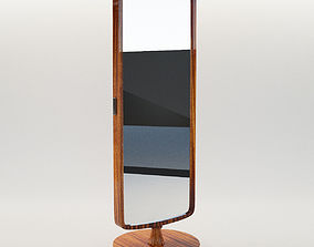3D model Dressing mirror - Art Deco 1930 wall-mirror