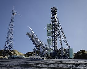 3D N-1 Rocket Launch Pad