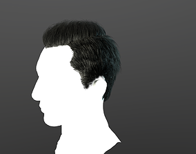 Real-time hair 3 3D asset game-ready
