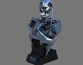 3D Terminator T-800 Torso Bust