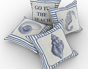 Pillows in marine style 3D