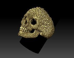 3D print model skull ring