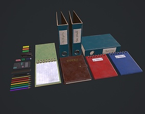 Stationery Pack - Stationery Set 3D model