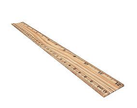 3D asset Wooden Ruler