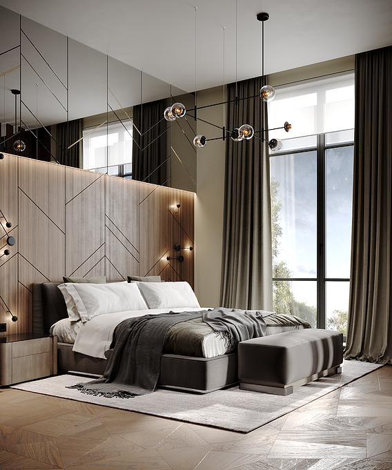 Scene Bedroom silver bor