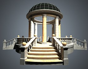 3D asset Rotunda with four staircases