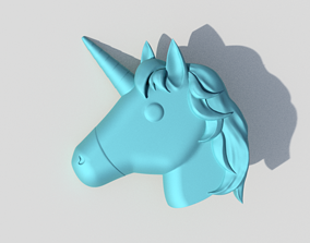 Unicorn Emoji Accurate and 3D printable Model