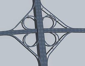 3D model realtime Highway Viaduct flyover