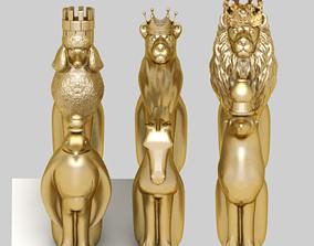 chess jewelry 3d