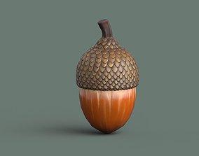 3D asset Acorn Low Poly