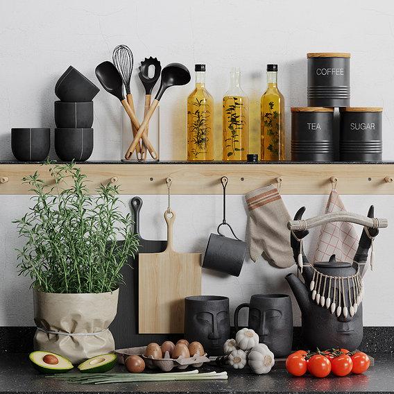 Decorative kitchen set 03 by Systemh11
