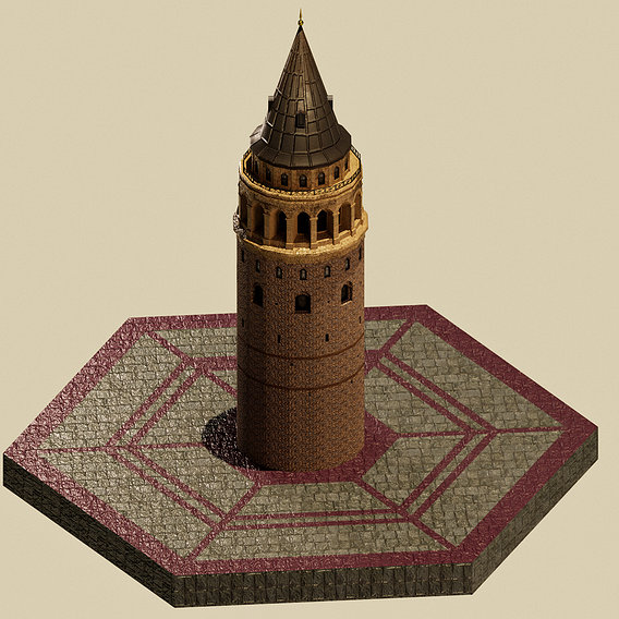 Stylized Galata Tower