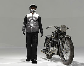 3D Biker and Motorcycle