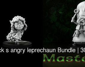 St- patrick s angry leprechaun Bundle 3D