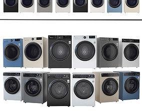 Washing machine and dryer LG LG DC90V9V9W LG 3D asset