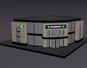 Pharmacy Lowpoly 3D model