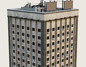 Building Skyscraper City Town Downtown Office 3D asset 2