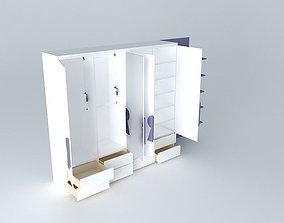 3D model Cabinet with keys