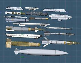 USAF A-10C Weapons Set 3D model