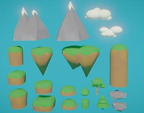 3D model LP Simple Landscape Assets Pack
