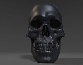 3D model Old metal Skull
