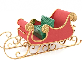 3D model Santa Claus Sleigh