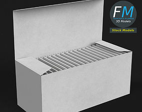 Rectangular box filled with paper bags 3D model
