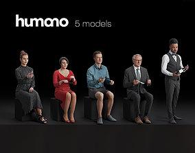 Humano 5-Pack - CAFE - RESTAURANT - BAR - 5x 3D 2