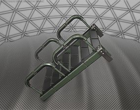 3D model Sci-Fi Stairs - 26 - Green Version