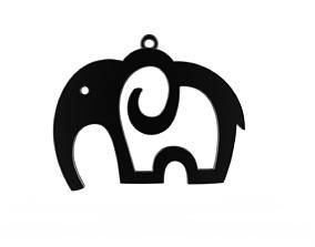 Elephant pendant safari 3D print model