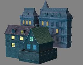 buildings old town 3D asset