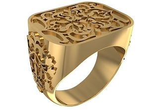 3D print model Square style Signet ring