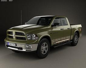 3D model Dodge RAM 1500 Mossy Oak Edition 2014