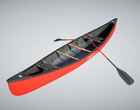 Canoe boat 3D model