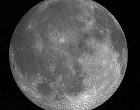 Moon with 22k Textures and Bump Map 3D model