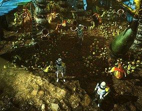 3D asset Star wars sci-fi Felucia stuff