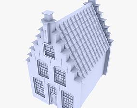 Row House 3D model