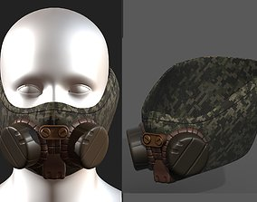 Gas mask helmet scifi fantasy armor hats military 3D model
