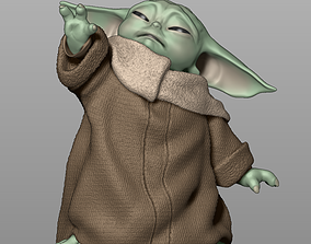 Baby Yoda Using The Force - The 3D print model