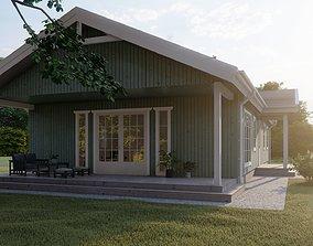 Scandinavian house archicad22 sketchup 3D model 1