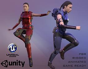 3D model Sci-Fi Female Soldier
