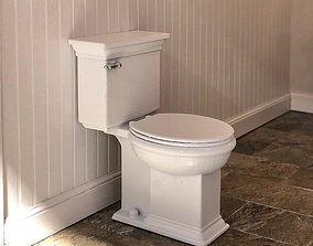 3D printable model 12th scale Classic Bathroom Toilet for