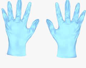 3D model surgical gloves medical gloves doctor gloves 1