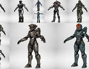 Collection 12 Model Gameready Future Character 3D