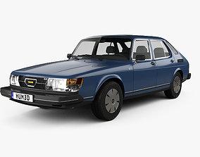 3D model Saab 900 GLE combi 1979