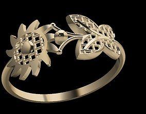 3D print model shining HALF RING RHINO DESIGN
