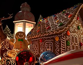 holidays 3D Gingerbread House