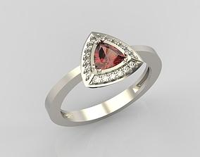 Ring trillion diamond 3D print model